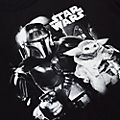 Camiseta blanca y negra para adultos The Mandalorian, Star Wars