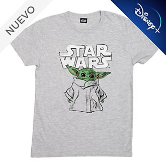 Camiseta para adultos tipo boceto El Niño, Star Wars: The Mandalorian