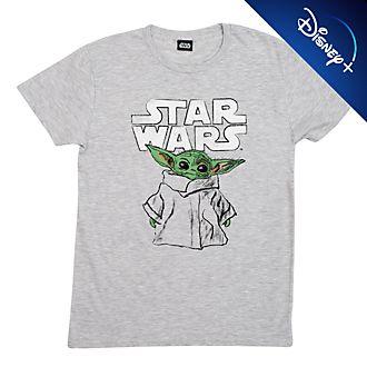 Camiseta para adultos tipo boceto El Niño, Star Wars: The Mandalorian