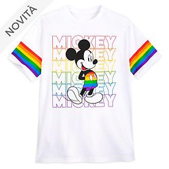 Maglietta adulti Mickey Mouse Rainbow Topolino Disney Store