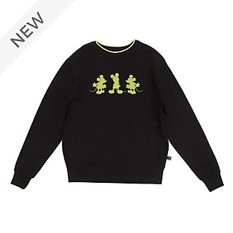 Disney Store Mickey Mouse: Neon Festival Sweatshirt For Adults