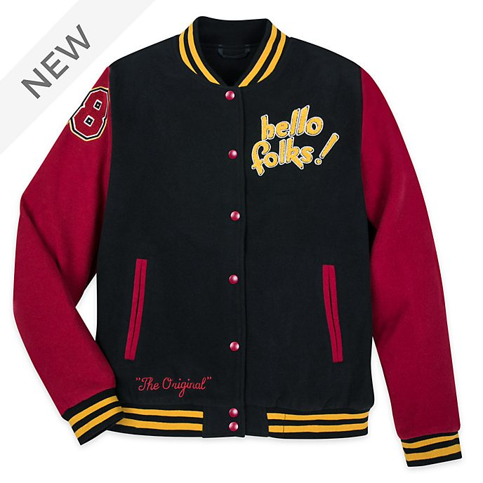 Disney Store Mickey and Pluto Varsity Jacket For Adults