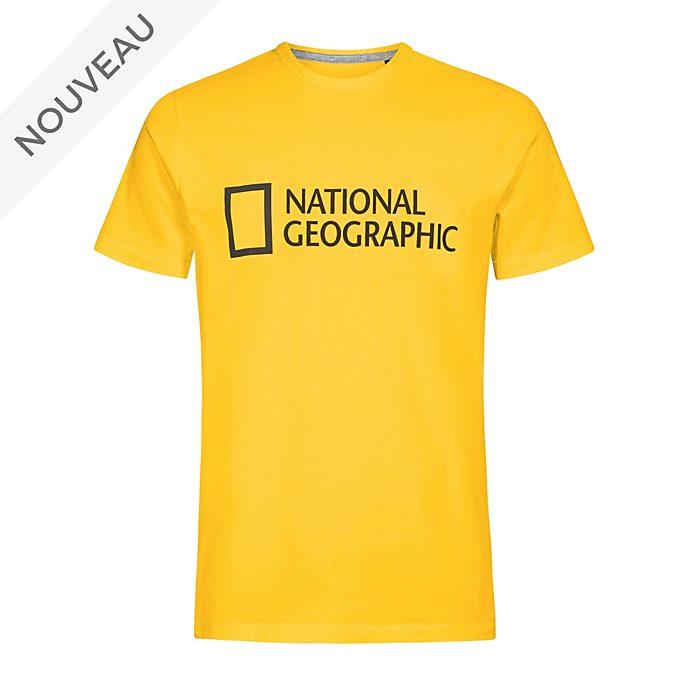 Disney Store T-shirt National Geographic jaune pour adultes