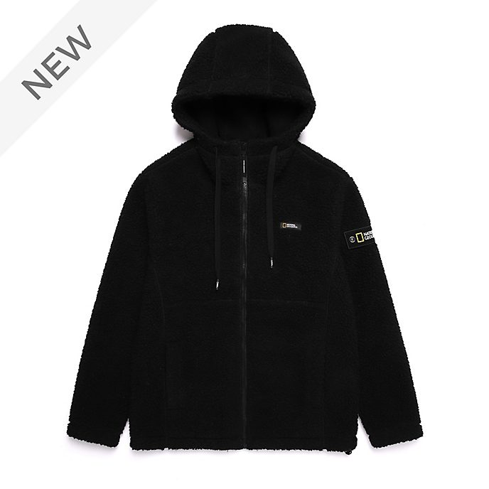 Disney Store National Geographic Black Hooded Fleece For Adults