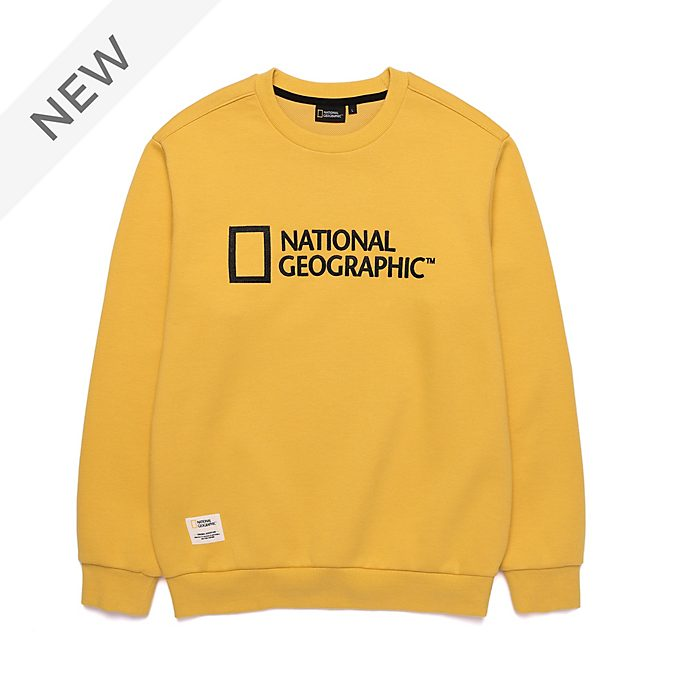Disney Store National Geographic Yellow Sweatshirt For Adults