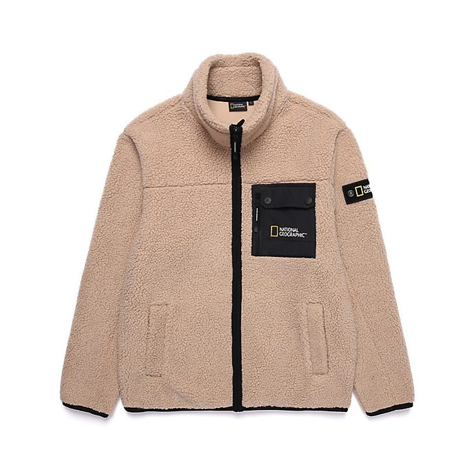Disney Store National Geographic Beige Fleece For Adults