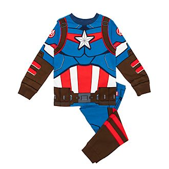 Disney Store Captain America Costume Pyjamas For Kids