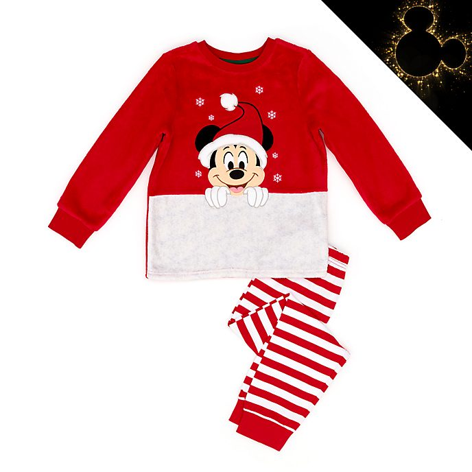Disney Store Mickey Mouse Holiday Cheer Fluffy Pyjamas For Kids