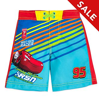 Disney Store Lightning McQueen Swimming Trunks For Kids