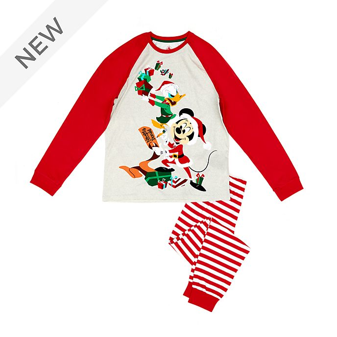 Disney Store Mickey and Donald Holiday Cheer Organic Cotton Men's Pyjamas