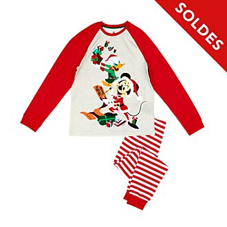 Disney Store Pyjama Mickey et Donald en coton biologique pour hommes, Holiday Cheer