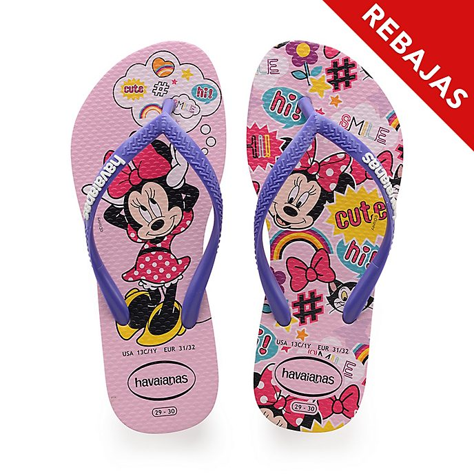 Chanclas rosa Minnie para niña, Havaianas