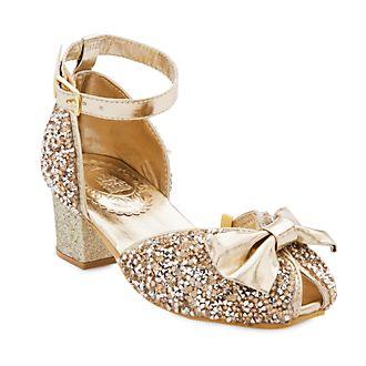 Zapatos infantiles plateados y dorados, princesas Disney, Disney Store