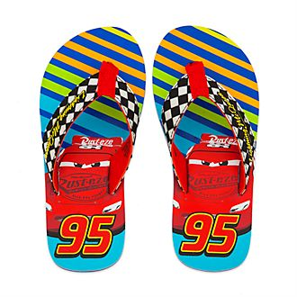 Disney Store Lightning McQueen Flip Flops For Kids