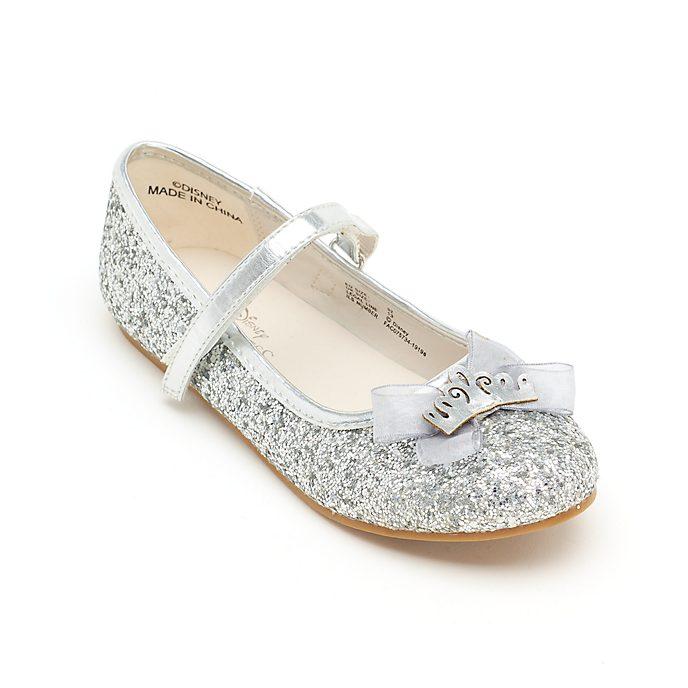 Zapatos infantiles plateados brillantes, princesas Disney, Disney Store