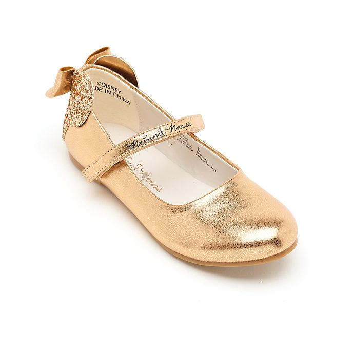 Disney Store Minnie Mouse Rose Gold Shoes For Kids
