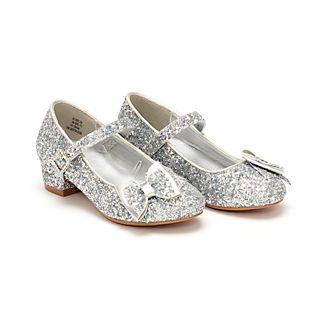 Zapatos infantiles plateados princesas Disney, Disney Store