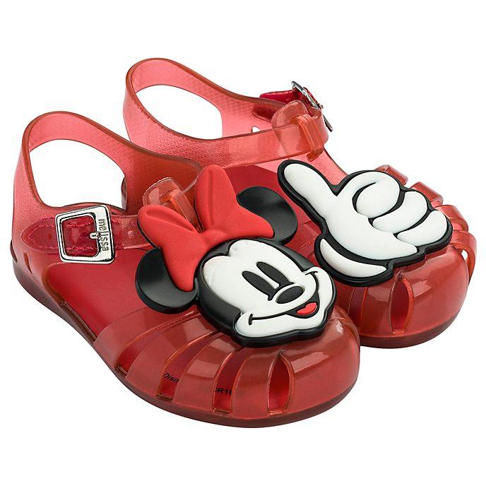 Sandalias de goma rojo para bebé, Minnie Mouse, Melissa