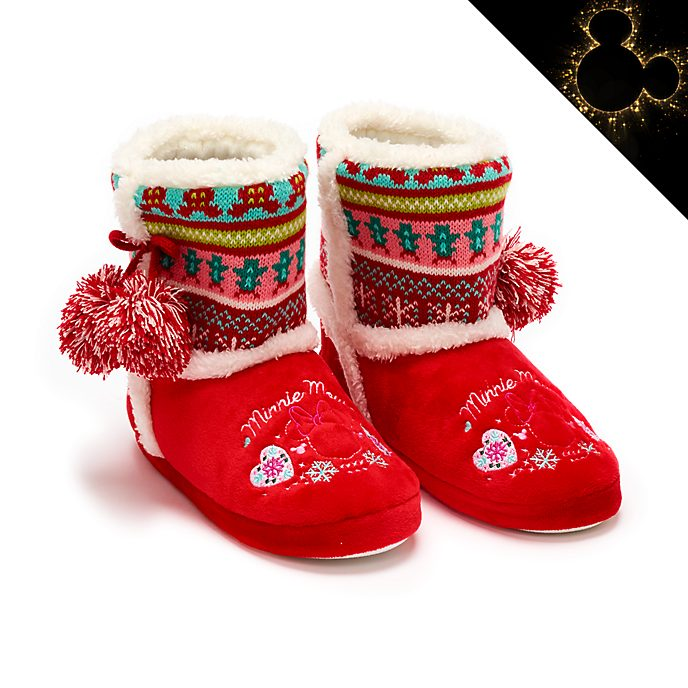 Disney Store Chaussons Minnie pour adultes, Holiday Cheer