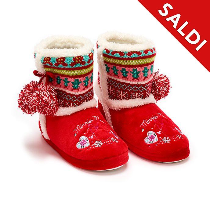 Pantofole adulti Minni Holiday Cheer Disney Store