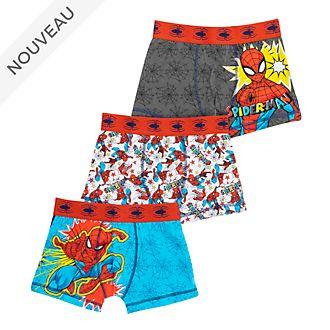 Disney Store Boxers Spider-Man pour enfants, lot de 3