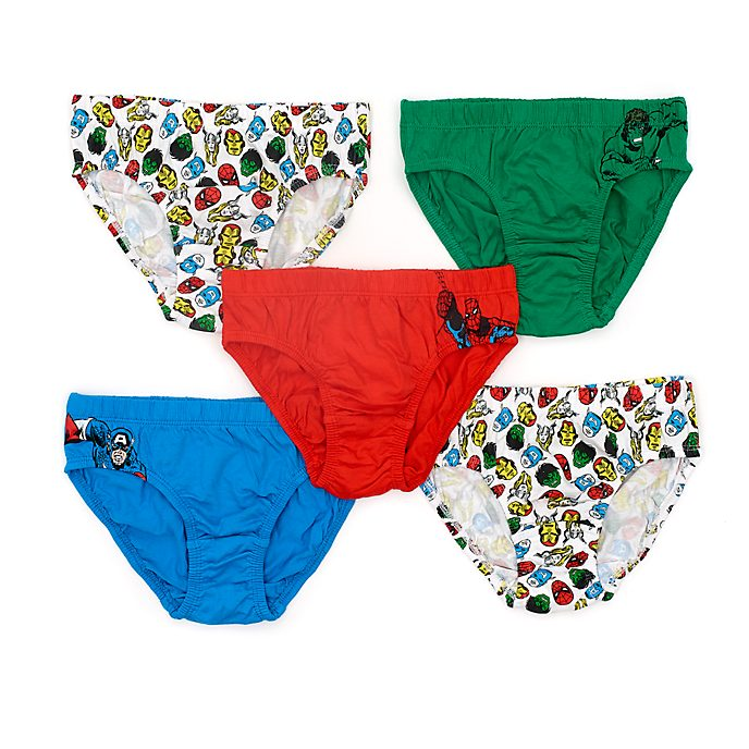 Disney Store Marvel Briefs For Kids, Pack of 5