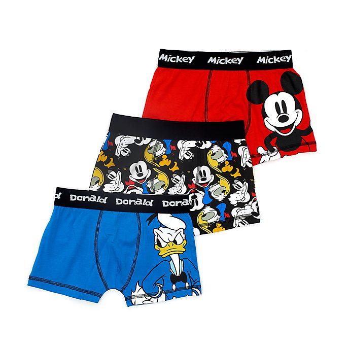 Disney Store Boxers Mickey et ses amis pour enfants, lot de 3