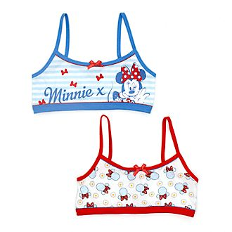 Disney Store Minnie Mouse Bralettes For Kids, Pack of 2