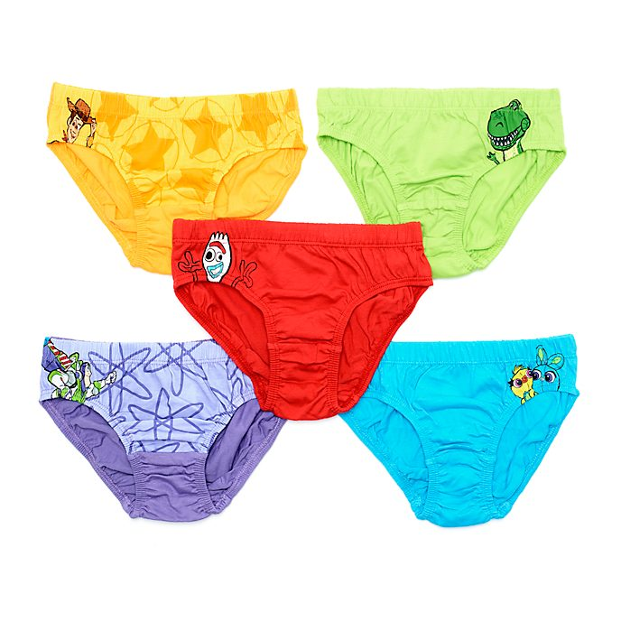 Disney Store Toy Story 4 Briefs For Kids, Pack of 5