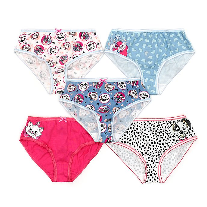 Disney Store Disney Cats and Dogs Briefs For Kids, Pack of 5