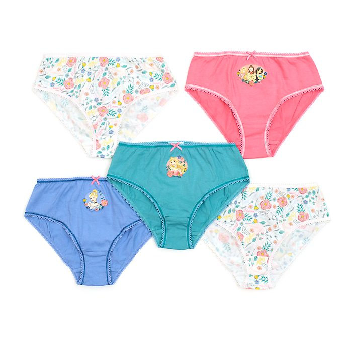 Disney Store Disney Princess Briefs For Kids, Pack of 5
