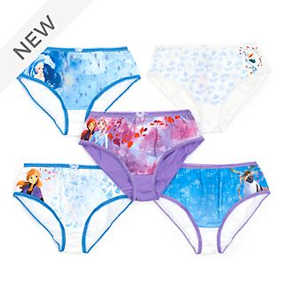 Disney Store Frozen 2 Briefs For Kids, Pack of 5
