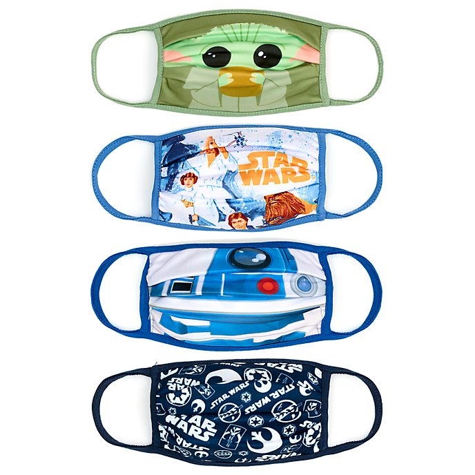 Disney Store Star Wars Cloth Face Coverings, Pack of 4