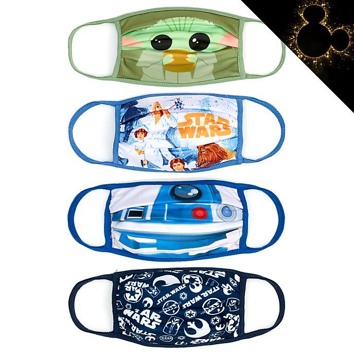 Disney Store Masques en tissu Star Wars, lot de 4