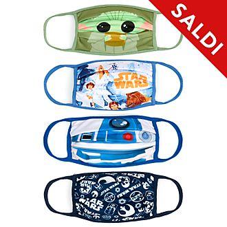 Mascherine in tessuto Star Wars Disney Store, confezione da 4