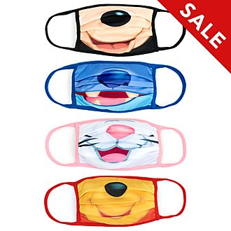 Disney Store Classic Disney Cloth Face Coverings, Pack of 4