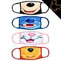 Disney Store Masques en tissu Classiques Disney, lot de 4