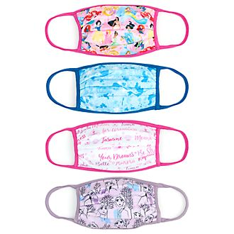 Disney Store Masques en tissu Princesses Disney, lot de 4