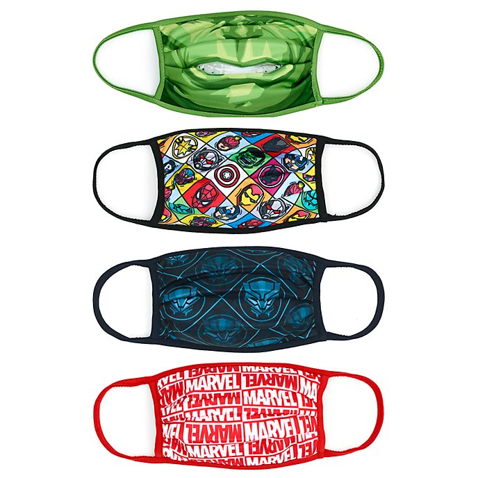 Disney Store Marvel Cloth Face Coverings, Pack of 4