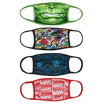 Disney Store Masques en tissu Marvel, lot de 4