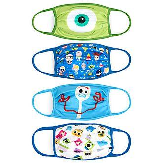 Mascherine in tessuto Disney Pixar Disney Store, confezione da 4