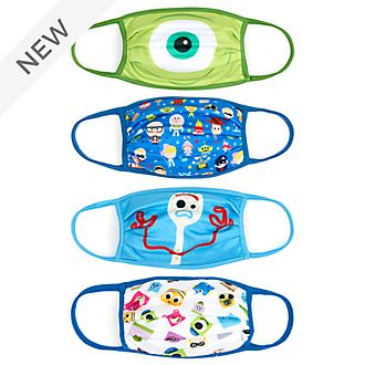Disney Store Disney Pixar Cloth Face Coverings, Pack of 4