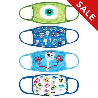 Disney Store Disney Pixar Cloth Face Coverings, Pack of 4