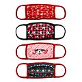 Disney Store Mickey and Minnie Festive Cloth Face Coverings, Pack of 4