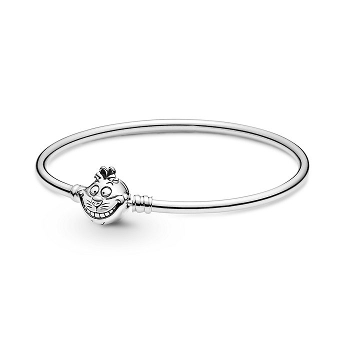 Disney X Pandora Alice in Wonderland Cheshire Cat Clasp Pandora Moments Bangle