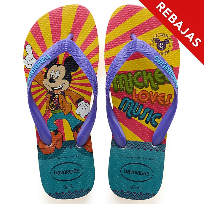 Havaianas chanclas 1970 90.º aniversario Mickey