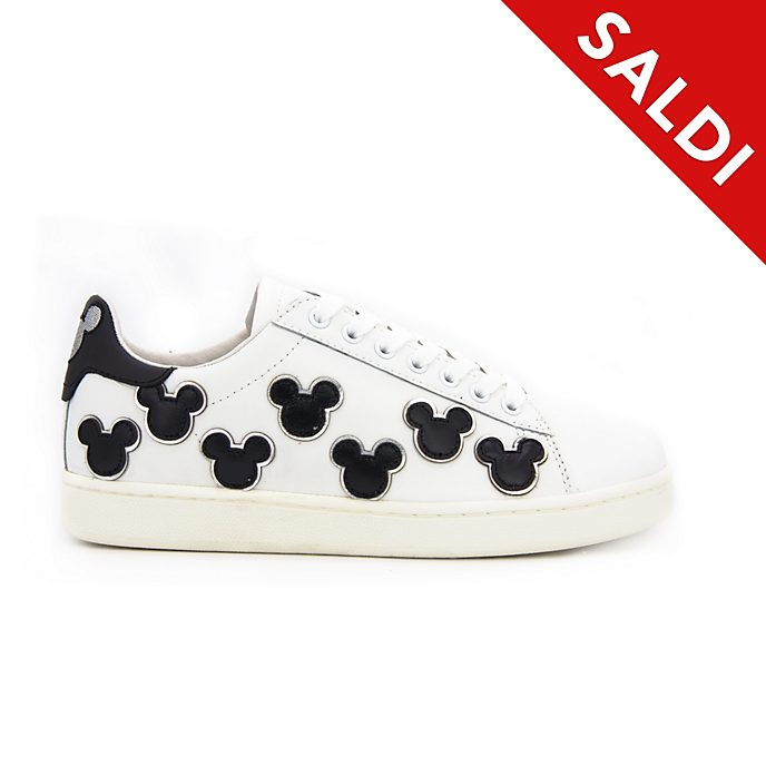 Scarpe sportive adulti color bianco e nero Topolino Master of Arts