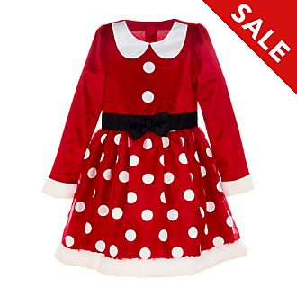 Disney Store Minnie Mouse Holiday Cheer Costume For Kids
