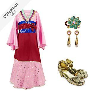 Conjunto disfraz infantil Mulán, Disney Store