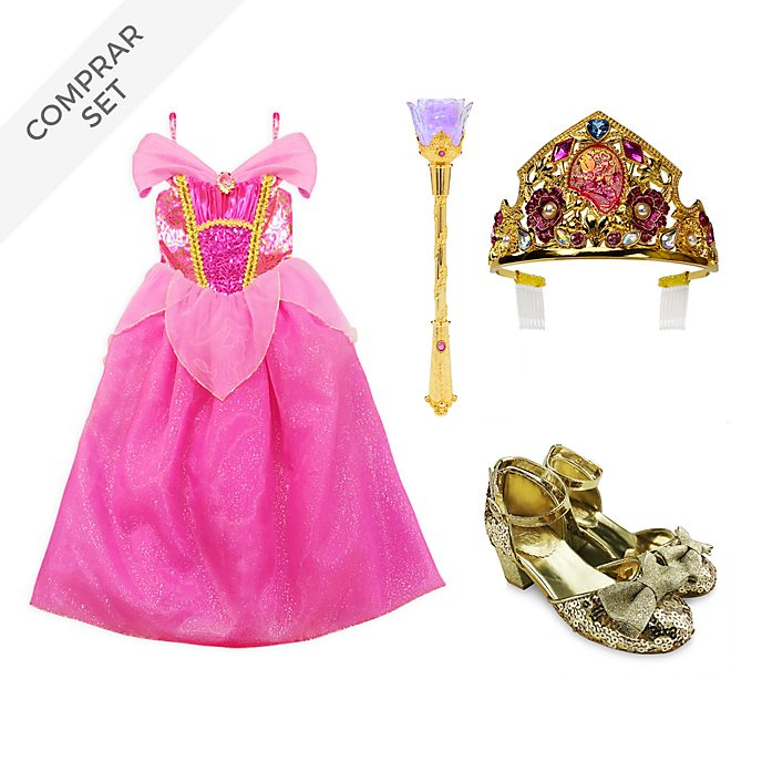 Conjunto disfraz infantil Aurora, La Bella Durmiente, Disney Store